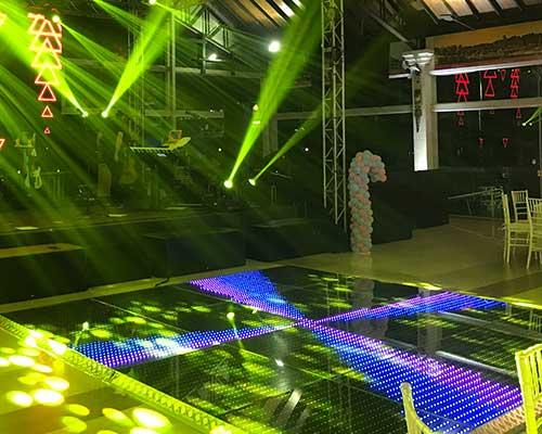 Pista de LED 4m x 6m - Locação 5 pista de led grafica 4