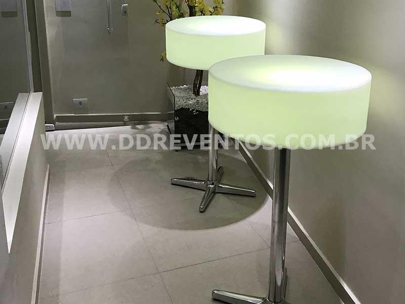Mesa Bistrô pé de Aluminio - LOCAÇÃO 3 mesa bistro de led pe aluminio 2