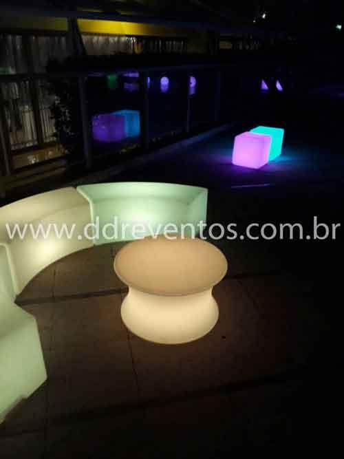 Puff de led Curvo - LOCAÇÃO 12