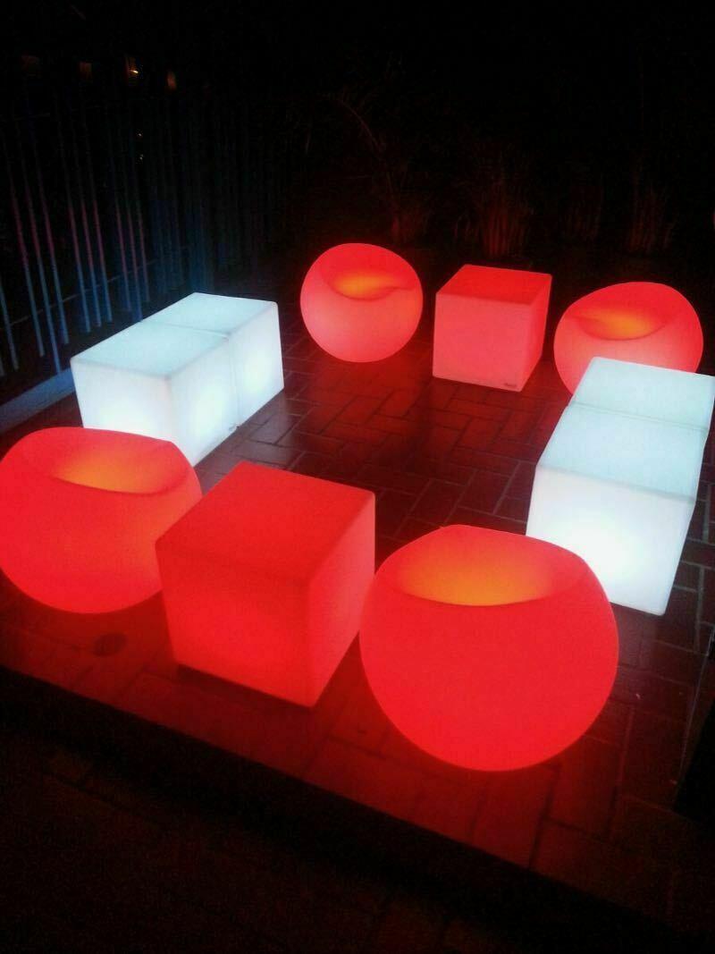 Lounge Neon Quadrado  - Locação 1