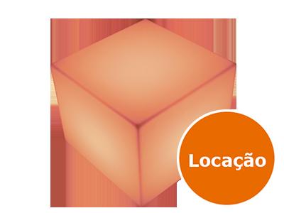 Puffs de led para locação 6 8213996694 cubo 55