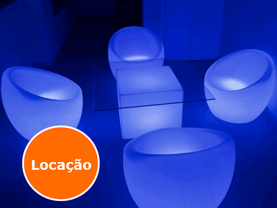 Poltrona de led - OCA - LOCAÇÃO 2 Lounge Box Oca
