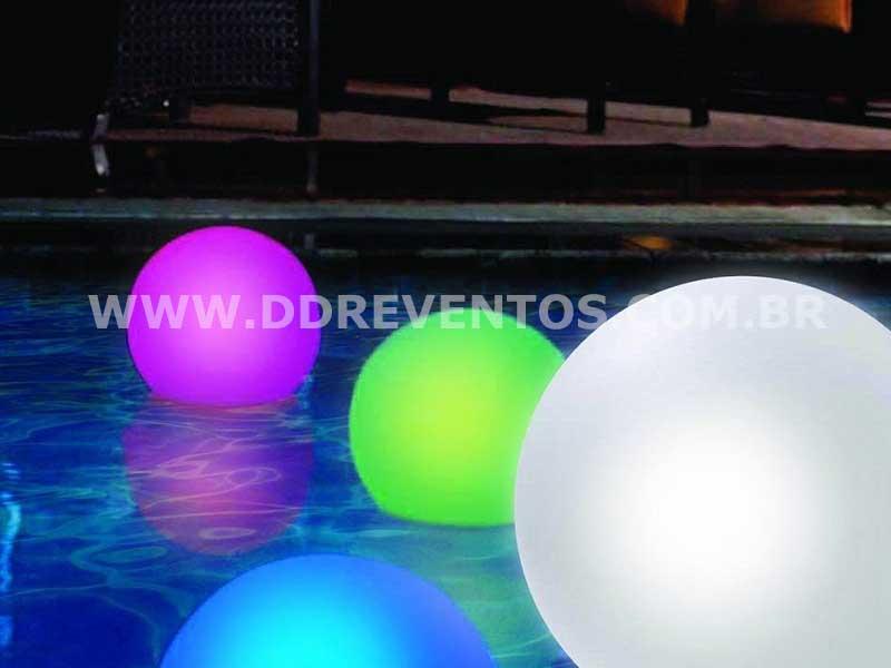 Esferas de Led de 50 cm para piscina  - Locação 3