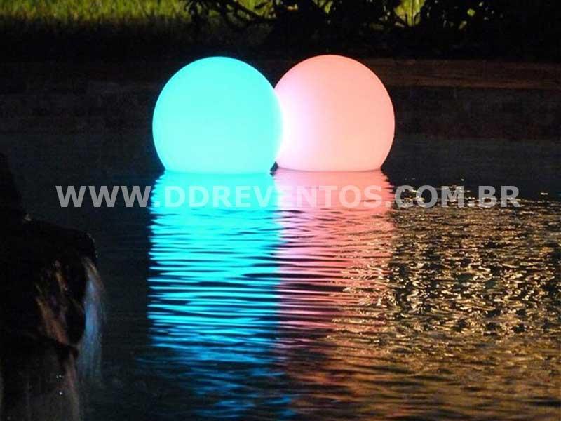 Esferas de Led de 50 cm para piscina  - Locação 4