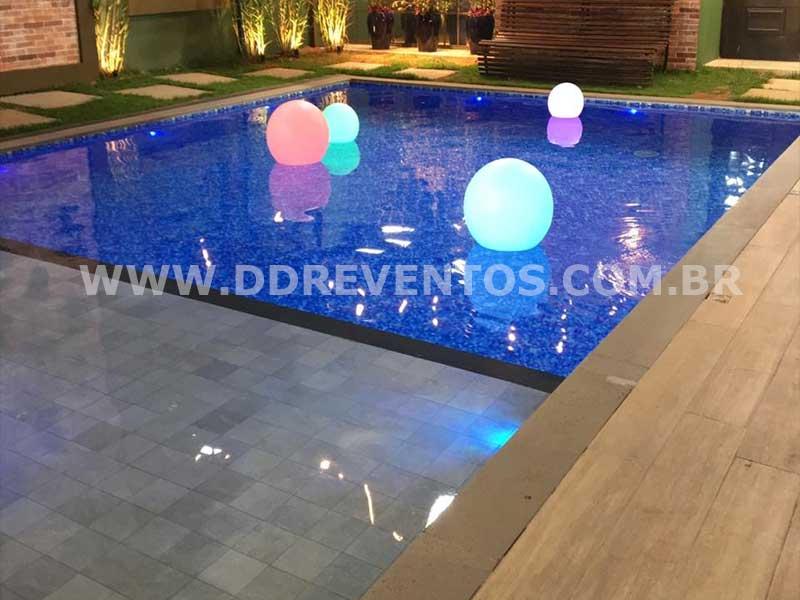 Esferas de Led de 50 cm para piscina  - Locação 5