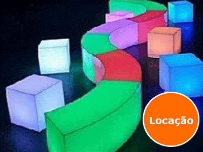 Lounge Curve - Locação 1 lounge curve led