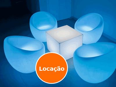 Lounge Neon poltrona Oca - Locação 1
