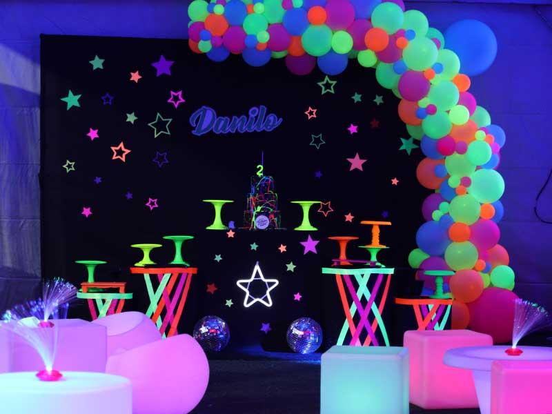 Tudo sobre festa tema Neon 4 decoracao festa tema neon